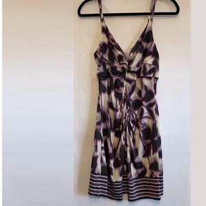 BCBGMaxAzria Purple & Cream Cocktail Dress. Size 6